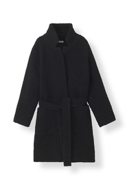 F4206 Boucle Wool Wrap Coat