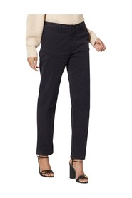 Ollie Relaxed Fit Cotton-Blend Trousers - Navy
