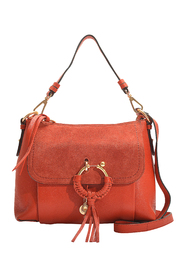 Pre-owned Joan Small Crossbody Bag in Grained Calfskin and Suede Leather