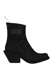 Logo patch ankle boots S59WU0165P2692