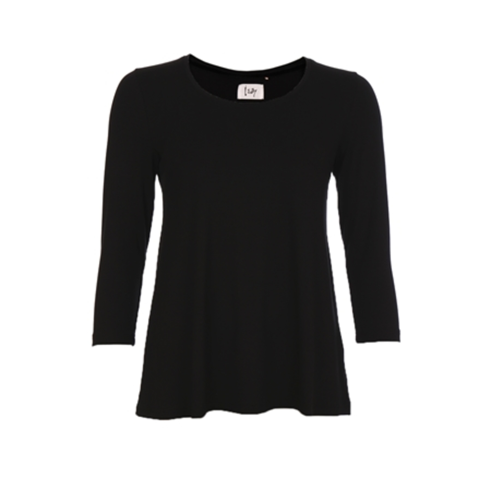 Louis 3/4 Sleeve Top Svart