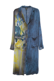 NEW CAMOUFLAGE DUSTER WITH HAND PAINTED IRIS