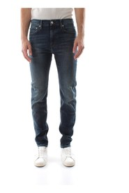 CALVIN KLEIN JEANS J30J308319 SLIM WEST JEANS Men DENIM MEDIUM BLUE
