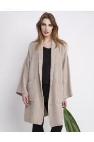 Płaszcz oversize z dzianiny