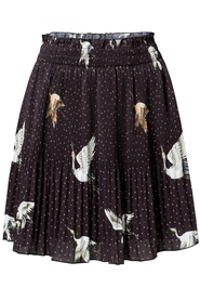 Pleated skirt with Japanese Print