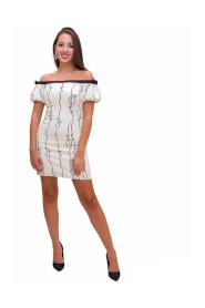 Mini dress with bow print