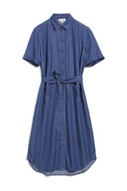 Denim blue tencel shirt collar dress - Maaisa dress