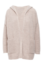 Waffle cardigan with open front