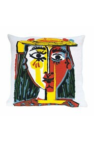 Portrait of a Woman with a Hat  pillow