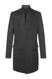 'Bodell' cropped coat with band collar