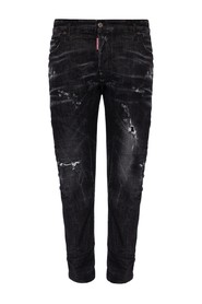 Tidy Biker Jean jeans with raw edge