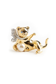 Kitten brooche