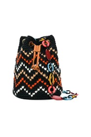 zigzag knit bucket bag uni