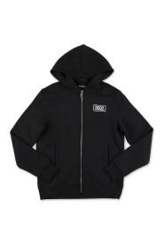 Logo-print zip-up hoodie