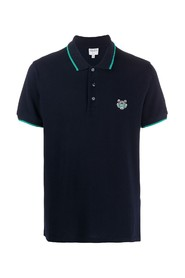 Micro tiger embroidery polo shirt