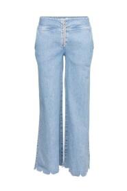 Blå Maud Wave Jeans. Bukse