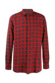 classic collar checked shirt