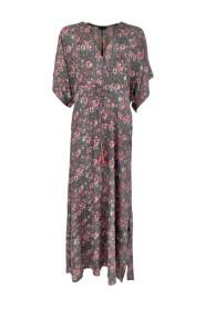 39057 luna long v-neck dress