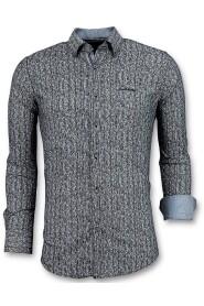 Luxe Italiaanse Overhemden - Pointed Star Blouse Mannen