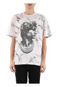 T-shirt Marble All Over David Statute On Front