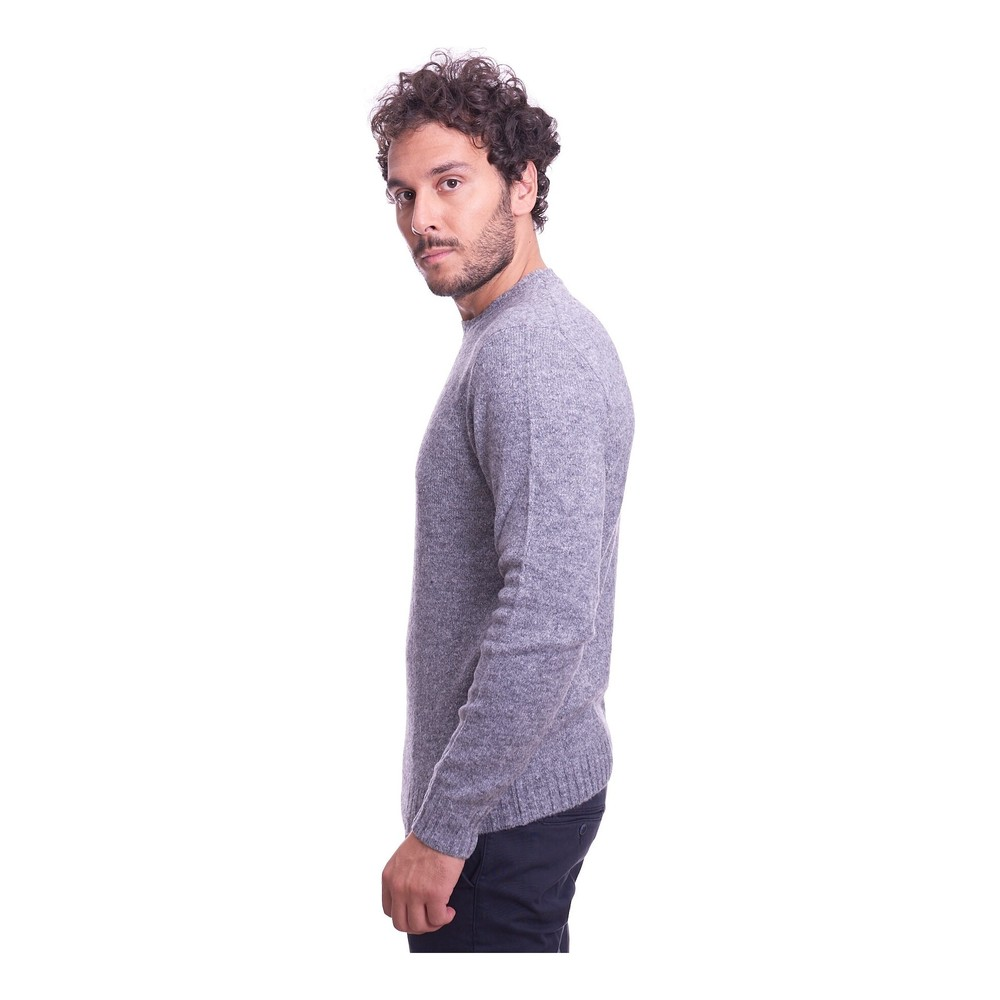 BROWN'S Gray CREW NECK SWEATER BROWN'S