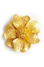Open flower brooch