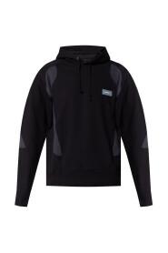 Logo-appliquéd hoodie