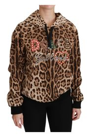Hooded Studded Ayers Leopard Sweater