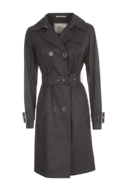 DELON MONOGRAM DETAILS DOUBLE BREASTED TRENCH