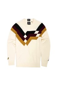 GEOMETRIC STRIPE KNITTED JUMPER