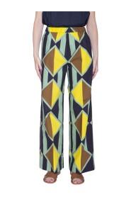 Pantalone in di stampato fantasia optical