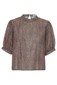 Diva brown print blouse