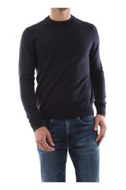 CALVIN KLEIN JEANS J30J314113 INSTIT CHEST LOGO KNITWEAR Men NIGHT SKY