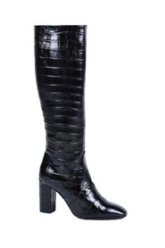 Croc-print leather heeled boots W205951CR