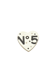 No 5 Heart Brooch
