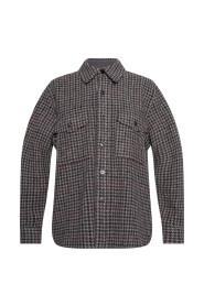 Fazon houndstooth pattern overshirt