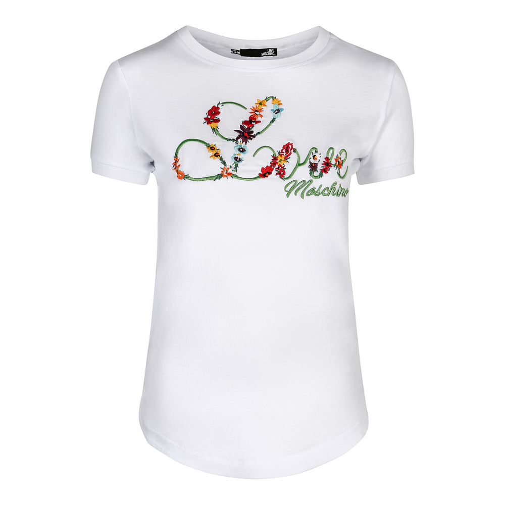 Moschino t-shirt Love blomster