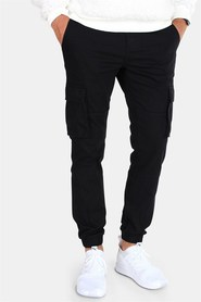 Only & Sons Tarp Stage Cargo Cuff Pants Black