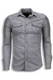 Shirt Slim Fit Ribbel Schoulder