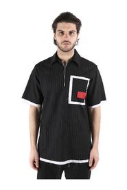 OVER SIZE POLO WITH ZIP + POCKET