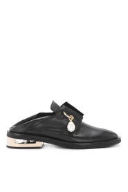 Nathan leather jewel loafer