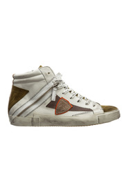 High top leather trainers sneakers