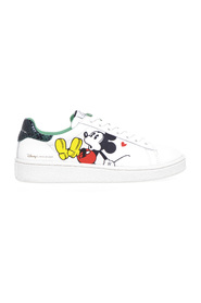 Sneakers in pelle con stampa Mickey Mouse 3D