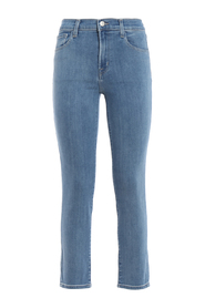 High-rise crop cigarette jeans