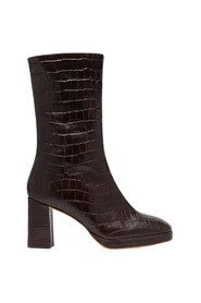 Carlota croco effect leather mid-high boots
