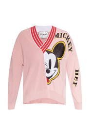 Knit sweater with Mickey Mouse motif