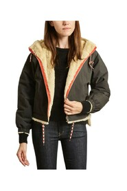 Loud canvas and faux-fur hooded reversible jacket