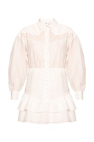 Shirt dress with long sleeves