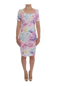 Printed Pencil Sheath Dress