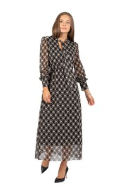 Long dress with knot pattern